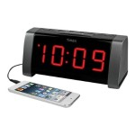 AM/FM Dual Alarm Clock Radio with Jumbo Display and Line-In Jack - White
