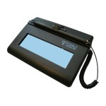 SigLite LCD BT 1x5 T-LBK460-BT2-R - Signature terminal w/ LCD display - 4.4 x 1.4 in - wireless - Bluetooth