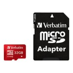 Verbatim Flash memory card ( microSDHC to SD adapter included ) - 32 GB - Class 10 - microSDHC UHS-I 44044