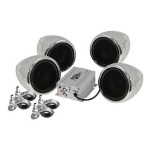 Marine MC470B - Speakers - for motorcycle - wireless - chrome