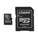 8GB microSDHC Flash Memory Card with Jewel Case, Bulk Pack