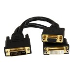8in Wyse DVI Splitter Cable - DVI-I to DVI-D and VGA - M/F - Comparable to Wyse DVI Y-Cable
