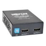 2-Port HDMI over Cat5/Cat6 Active Extender/Splitter, Remote Receiver for Video and Audio, 1080p @ 60 Hz, Up to 200-ft.