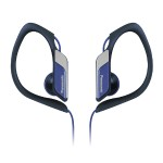 Water & Sweat Resistant Sports Nickel Plated Earbuds - Blue