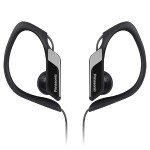Water & Sweat Resistant Sports Nickel Plated Earbuds - Black