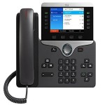 IP Phone 8861 - VoIP phone - IEEE 802.11a/b/g/n/ac (Wi-Fi) - SIP, RTP, SDP - 5 lines - charcoal