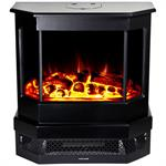 Cleveland Floor Standing Electric Fireplace - Black