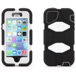Survivor Extreme-Duty - Protective cover for cell phone - silicone, polycarbonate - black/white - for Apple iPhone 5, 5s