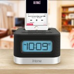 iHome Stereo FM Clock Radio with Lightning Dock for iPhone 5/5S and 6/6Plus IPL8BN