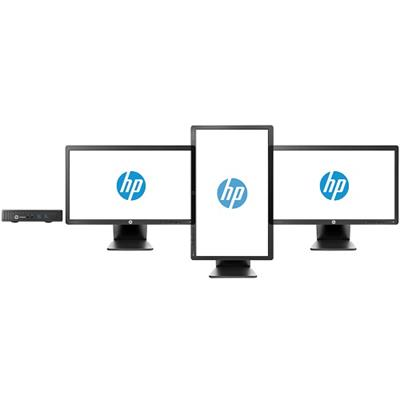 HP EliteDesk 800 G1 Mini, i5-4570T, 4GB memory, 500GB hard drive, Win8.1 with downgrade to Win7 Pro, three independent display support standard, ...