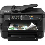 WorkForce WF-7620 - Multifunction printer - color - ink-jet - 11.7 in x 17 in (original) - A3/Ledger (media) - up to 16 ppm (copying) - up to 18 ppm (printing) - 500 sheets - 33.6 Kbps - USB 2.0, LAN, Wi-Fi(n), USB host