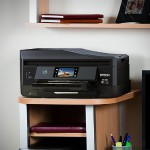 Expression Photo XP-860 - Multifunction printer - color - ink-jet - Legal (8.5 in x 14 in) (original) - A4/Legal (media) - up to 8.1 ppm (copying) - up to 9.5 ppm (printing) - 100 sheets - 33.6 Kbps - USB 2.0, LAN, Wi-Fi(n), USB host - black / blue