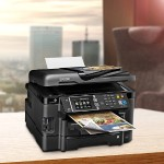 WorkForce WF-3640 - Multifunction printer - color - ink-jet - A4/Legal (media) - up to 17 ppm (copying) - up to 19 ppm (printing) - 500 sheets - 33.6 Kbps - USB 2.0, LAN, Wi-Fi(n), USB host