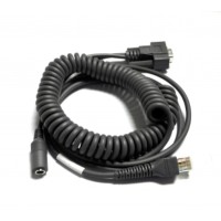Code Corporation 8' Coiled RS232 Affinity Cable with US Power Supply CRA-C503