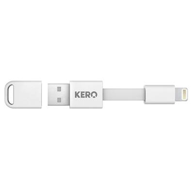 Global Marketing Kero Nomad Lighting Cable For Key Ring - White - Sync & Charge (LNG-W)