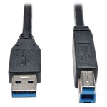 USB 3.0 SuperSpeed Device Cable (AB M/M) Black, 10-ft.