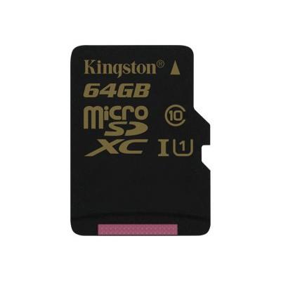 Kingston Digital64GB microSDXC CL10 UHS-I 90R/45W Single Pack w/o Adapter(SDCA10/64GBSP)