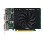 GeForce GT 730 - Graphics card - GF GT 730 - 1 GB DDR3 - PCIe 2.0 x16 - 2 x DVI, Mini-HDMI
