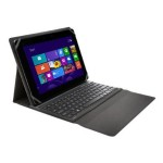 Kensington KeyFolio Fit Universal for Windows - Keyboard and folio case - Bluetooth - US - black K97345US