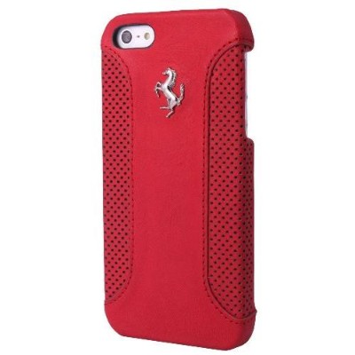 Masters ClubFerrari F12-Leather Hard Case for iPhone 5/5s - Red(FEF12HCP5RE)