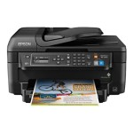Epson WorkForce WF-2650 - Multifunction printer - color - ink-jet - Legal (8.5 in x 14 in) (original) - 8.5 in x 47.2 in (media) - up to 11 ppm (copying) - up to 13 ppm (printing) - 150 sheets - 33.6 Kbps - USB 2.0, Wi-Fi(n) C11CD77201