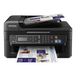 Epson WorkForce WF-2630 - Multifunction printer - color - ink-jet - Legal (8.5 in x 14 in) (original) - A4/Legal (media) - up to 8 ppm (copying) - up to 9 ppm (printing) - 100 sheets - 33.6 Kbps - USB 2.0, Wi-Fi(n) C11CE36201
