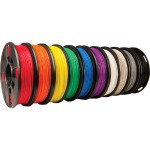 10-pack - cool gray, warm gray, true red, true blue, true white, true green, true black, true yellow, true orange, true purple - 8 oz - PLA filament (3D) - for Replicator Mini