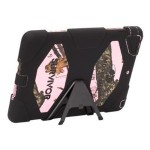 Griffin Survivor - Protective cover for tablet - silicone, polycarbonate - black, mossy oak, pink break-up - for Apple iPad Air GB38140