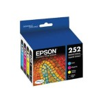 Epson 252 - Color (cyan, magenta, yellow, black) - original - ink cartridge - for WorkForce WF-3620DWF, WF-3640, WF-7110DTW, WF-7610, WF-7620; WorkForce Pro WF-5620DWF T252120-BCS