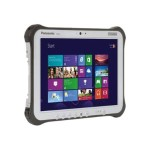 "Panasonic Toughpad FZ-G1 - Tablet - no keyboard - Core i5 4310U / 2 GHz - Windows 7 Pro / 8.1 Pro downgrade - pre-installed: Windows 7 - 8 GB RAM - 128 GB SSD - 10.1"" touchscreen 1920 x 1200 - Intel HD Graphics 4400 - 802.11ac - 4G - with Toughbook Preferred FZ-G1F53JFCM"