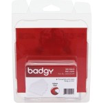 Badgy - Card - polyvinyl chloride (PVC) - 20 mil - white - 100 card(s) - for Badgy 100, 200, 1st Generation