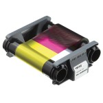 Evolis Badgy - Color (cyan, magenta, yellow, black, overlay) - print ribbon cassette - for Badgy 100, 200 CBGR0100C