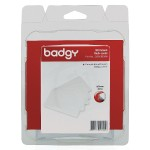 Badgy - Polyvinyl chloride (PVC) - 30 mil - white - 100 card(s) card - for Badgy 100, 200, 1st Generation