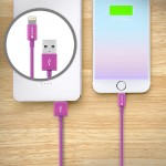 MiColor - Lightning cable - USB (M) to Lightning (M) - 4 ft - purple - for Apple iPad/iPhone/iPod (Lightning)