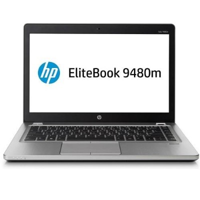 HP Smart Buy EliteBook Folio 9480m Intel Core i7-4600U Dual-Core 2.10GHz Notebook PC - 4GB RAM, 500GB HDD, 14