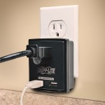Surge 1 Outlet 120V USB Charger Tablet Smartphone Ipad Iphone - Surge protector - 15 A - AC 120 V - 1800 Watt - output connectors: 1 - black