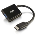 HDMI to VGA Adapter Converter Dongle - Video converter - HDMI - black
