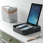 Sanctuary 4 Charging Station 4 The perfect home for your iPhone, iPod & iPad - Black