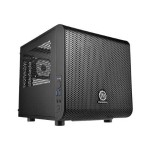 ThermalTake Core V1 - Mini tower - mini ITX - no power supply - black - USB/Audio CA-1B8-00S1WN-00