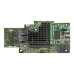 Integrated RAID Module RMS3CC040 - Storage controller (RAID) - 4 Channel - SATA 6Gb/s / SAS 12Gb/s - 12 GBps - RAID 0, 1, 5, 6, 10, 50, 60 - PCIe 3.0 x8