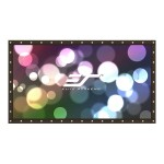 Elite Screens DIY Pro Series DIY123RH1 - Projection screen - 123 in ( 122.8 in ) - 16:9 - DynaWhite - black DIY123RH1