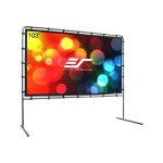 Yard Master Series OMS103HR - Projection screen with legs - rear - 103 in ( 103.1 in ) - 16:9 - Wraith Veil