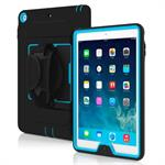 Capture Ultra Rugged Case with Rotating Hand Strap for iPad Air - Black / Cyan
