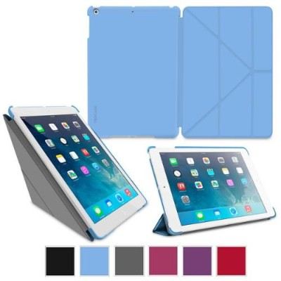 GoDirect rooCase Origami SlimShell Case Cover for Apple iPad Air - Blue (EDUAPIPAD5OGSSBL)