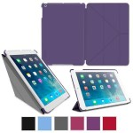 GoDirect rooCase Origami SlimShell Case Cover for Apple iPad Air - Purple EDUAPIPAD5OGSSPR