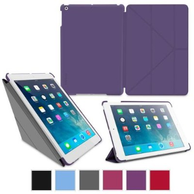 GoDirect rooCase Origami SlimShell Case Cover for Apple iPad Air - Purple (EDUAPIPAD5OGSSPR)