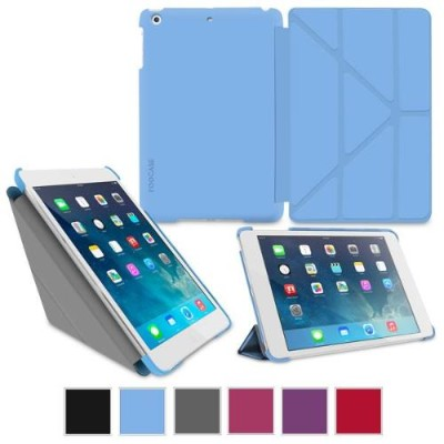 GoDirect rooCase Origami SlimShell Folio Case Cover for Apple iPad Mini with Retina Display - Blue (EDUAPMINIOGSSBL)