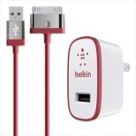 Belkin Home Charger for iPad (10 Watt/2.1 Amp) - Red F8J141TT04-RED