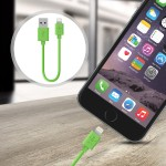 Lightning to USB ChargeSync Cable - 6.0 Inches - Green