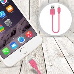 Lightning to USB ChargeSync Cable - 6.0 Inches - Pink